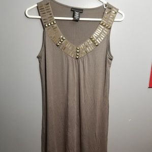 Straight waist dress
